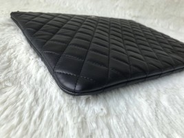 AUTHENTIC CHANEL Black Quilted Lambskin Large Clutch Bag GHW image 4