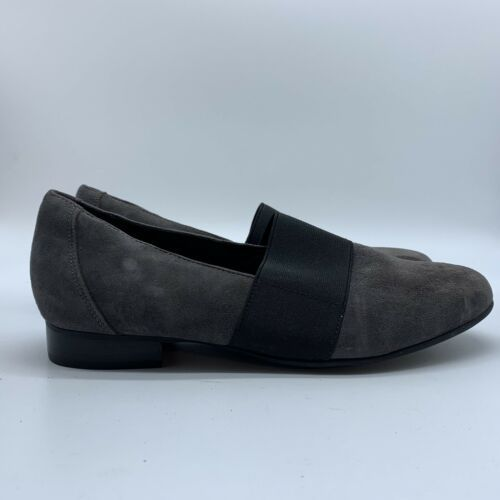 Primary image for Clarks Artisan Unstructured Womens Gray  Suede Flat Shoes, Size 9