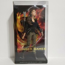 Katniss The Hunger Games Barbie Collector Black Label Doll & Stand 2012 New - $33.65