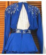 80s Backless Vintage Beaded Suit D'ORE Cutout Back Sz 4 - $120.00