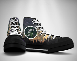Young wild and free  Canvas Sneakers Shoes - $49.99