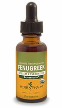 Herb Pharm Certified Organic Fenugreek Liquid Extract for Female Reproductive Su