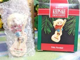 HALLMARK Feliz Navidad 1992 Christmas ornament Mouse with Guitar - $9.99