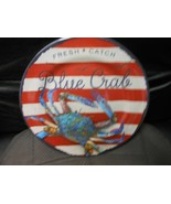 "Round Melamine Plates 10 1/4"" - Fresh & Catch Blue Crab Set Of 4 - $25.69"