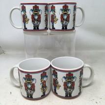 Set of 4 VTG Christmas Nutcracker Mugs  Holiday Whimsical - $30.40