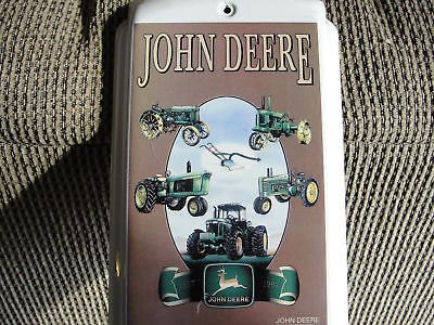 official John Deere Tractor advertising working metal collectible THERMOMETER