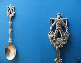 DUTCH MAN Souvenir Collector Spoon Collectible WATER CARRIER Holland Col... - $5.95