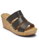 Womens Rockport Lyla Banded Slide - Black Leather, Size 7 M US [SCH9851] - $99.99