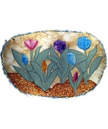 Tulips in Bloom: Quilted Art Wall Hanging - $205.00