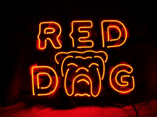Red Dog Miller Beer Bar Neon Light Sign 16