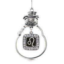 Inspired Silver Leo Zodiac Classic Snowman Holiday Christmas Tree Ornament - $14.69