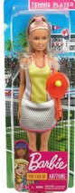 Barbie Blonde Tennis Player Doll With Tennis Outfit, Racket And Ball - $16.71