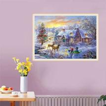 5D Diamond Painting Christmas Deer Embroidery Home Full Drill Cross Stitch Kits - $19.99