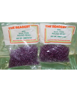 4mm ROUND BEADS THE BEADERY PLASTIC DARK AMETHYST 2 PACKAGES 1,600 COUNT - $3.99