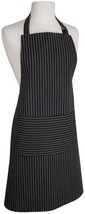 Now Designs Basic Cotton Kitchen Chef's Apron, Black with White Pinstripe - $18.40