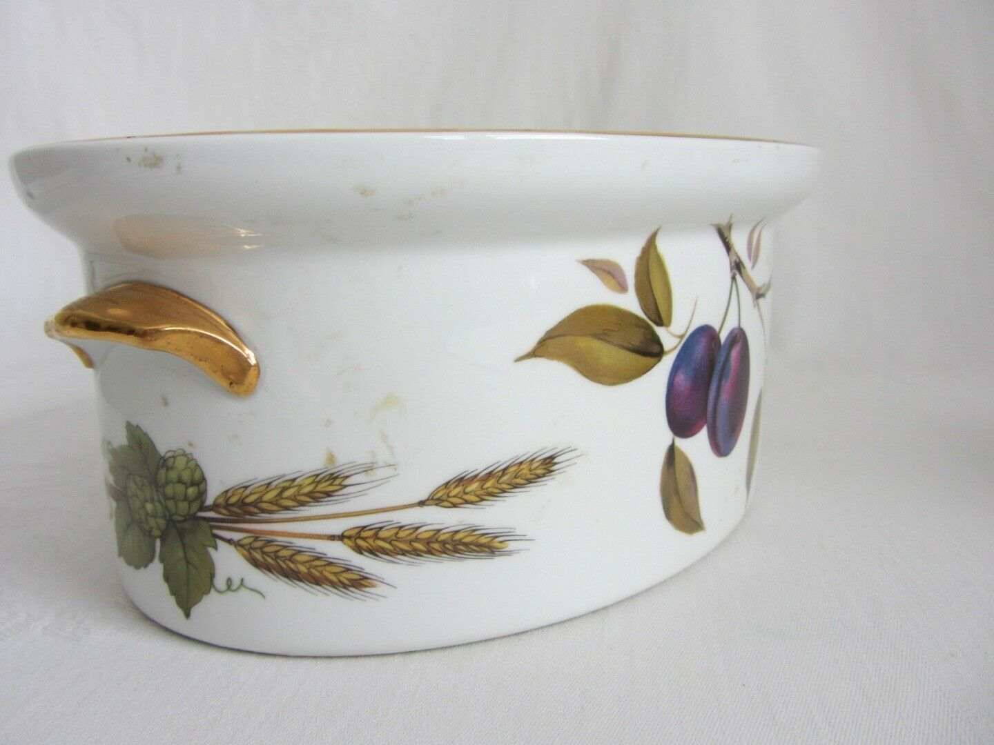 Royal Worcester Evesham Vale Covered Casserole + Rectangular Serving Dish Bowl