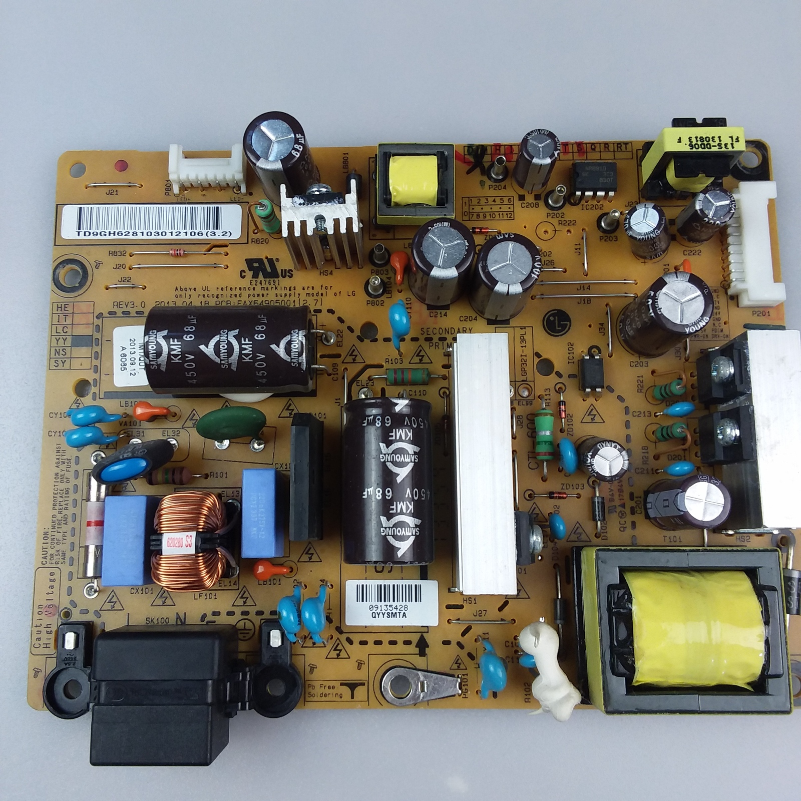 LG 32LN575V EAX64905001 (2.4) (2.7) Power Supply Board