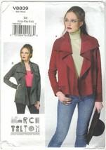 Vogue 8839 Marcy Tilton Waterfall Jacket, Cardigan Pattern Size Large-XL... - $12.73