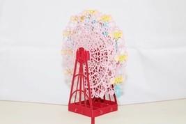 Ferris Wheel 3D Pop-Up Greeting Card Handmade Happy Birthday Anniversary... - $6.99