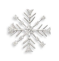 Snowflake Pin with CZs - $17.99