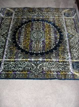 Beautiful Purple Mandala Tapestry Morocco Rayon Cotton RARE - $165.00