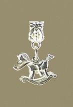 NICE Silver 925 Child Baby Rocking Horse European bead Charm - $23.53
