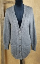 Ann Taylor womens size small open front gray cardigan lagenlook mohair blend - $33.61
