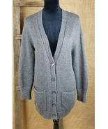 Ann Taylor womens size small open front gray cardigan lagenlook mohair b... - $33.61