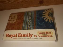 Cannon Royal Family B19 Vintage Full Flat Sheet Hyacinth Blue Fiji - $37.99