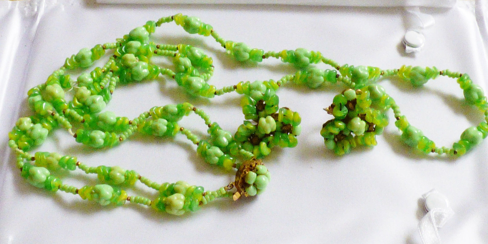 16c2111f32578 VTG Miriam Haskell Green Art Glass Necklace and 50 similar items