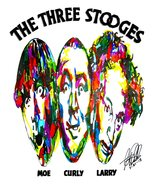 "The Three Stooges, Moe, Larry, Curly, Comedy, Slapstick, 18""x24"" Art Print - £14.38 GBP"