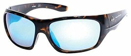 Harley-Davidson Men's Injected B&S Sunglasses, Tortoise Frames & Blue Flash Lens - $34.16