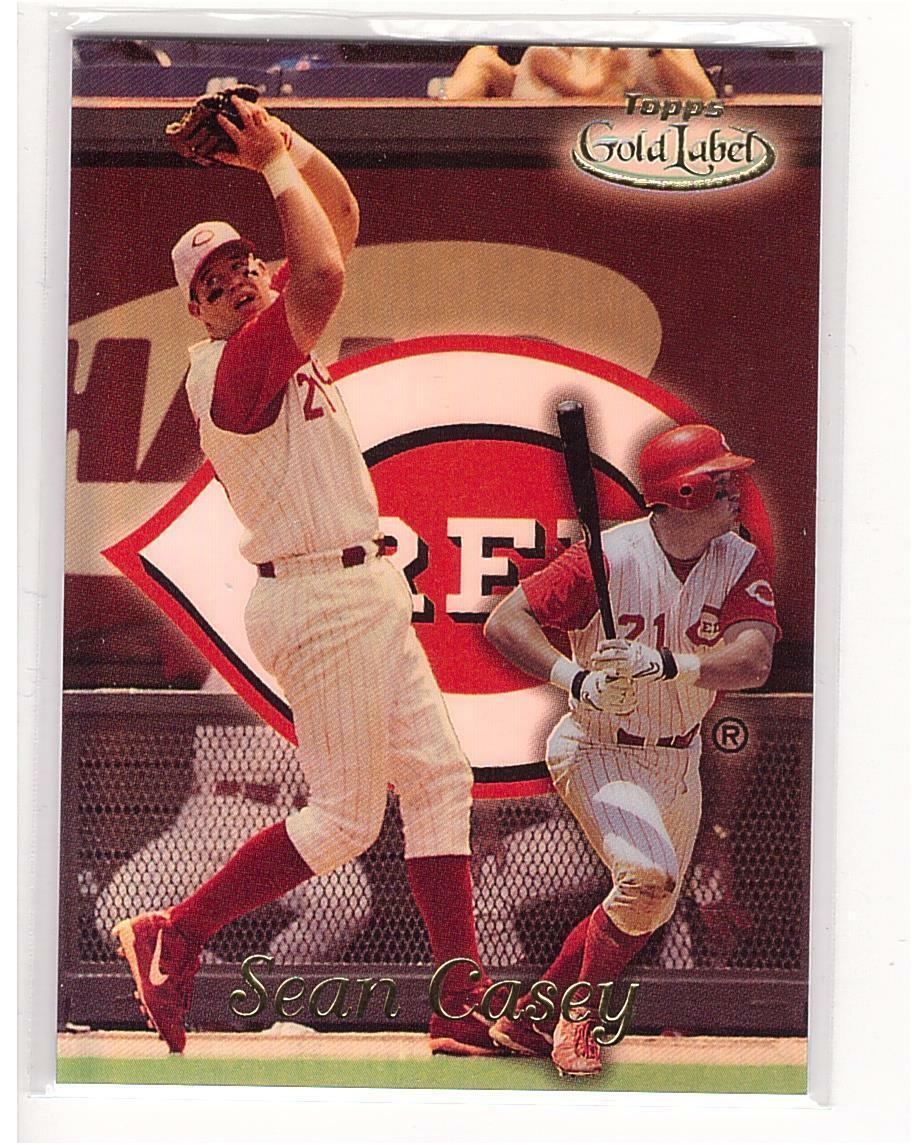 1999 Topps Gold Label #56 Sean Casey Reds Collectible Baseball Card*