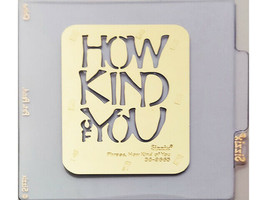 Sizzix Metal Embossing Plate, How Kind of You #38-9665