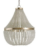 CURREY & CO COMPANY Chanteuse 4 Light Chandelier #9202, Frosted Glass & ... - $4,240.00