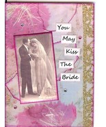 ACEO ATC Art Collage Man Woman Groom Bride Wedding You May Kiss The Bride - $5.00