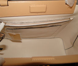 Michael Kors Meredith Med E/W Bonded Leather Tote Butternut image 8