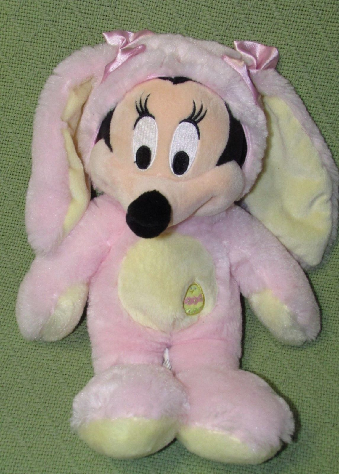 DISNEY STORE BABY Pink Easter Bunny & Mrs. Santa Claus Minnie Mouse Plush Dolls image 2