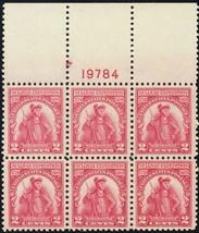 657, Mint NH XF Top Plate Block of Six Stamps - Stuart Katz - $40.00