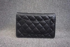 100% AUTH CHANEL 2018 Black Caviar Leather WOC Wallet on Chain WOC Bag SHW image 2