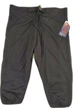 Football Pants Adams Youth Sz XL Thigh Knee Pad Pockets Black Full Cut NEW - $12.34