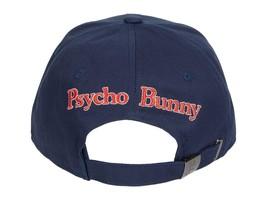 Psycho Bunny Men's Navy Embroidered Strapback Hat Sports Cotton Baseball Cap image 2