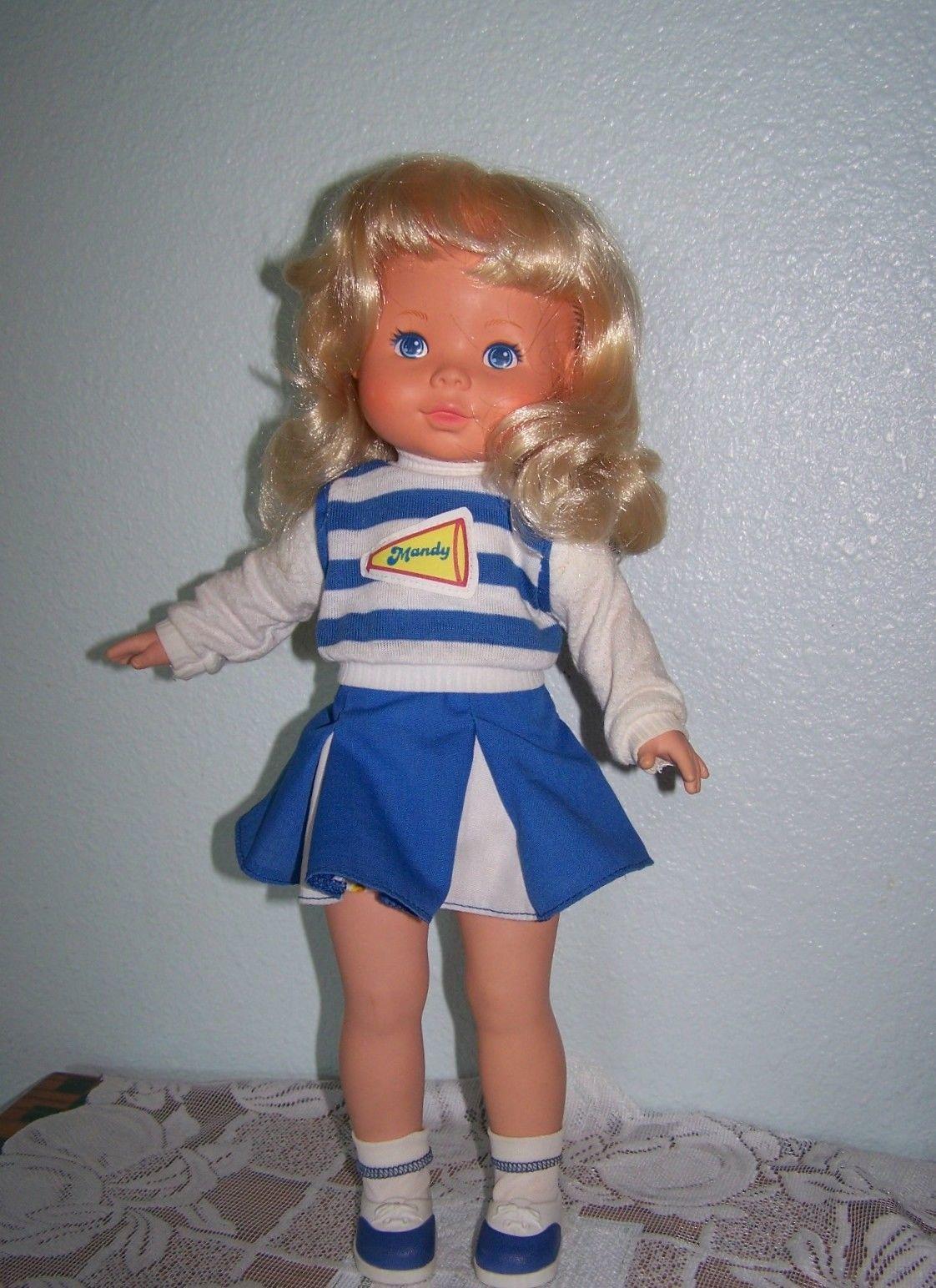 """1984 MANDY """"MY FRIEND"""" Fisher Price  Cheerleader Doll #206 All Original VGC - $38.61"""