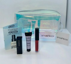Smashbox Set 5: Holographic Makeup Bag, Legendary, Bawse Lipstick, Primer, Pore - $19.70