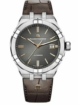 AUTHORIZED DEALER Maurice Lacroix Aikion AI6008-SS001-331-1 Brown Leathe... - $1,871.10
