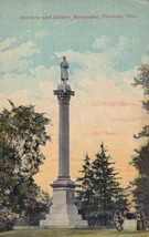 Soldiers and Sailors Monument Fremont Ohio OH Postcard  - $2.99