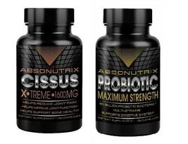 Absonutrix Cissus Xtreme Fuerza Maxima 1600mg + Absonutrix Probiótico Max - $41.49