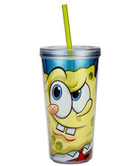 SPONGEBOB-16 OZ. CHILLER CUP WITH STRAW - $12.95