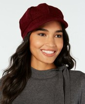 Nine West Boucle Newsboy Cap (Red, One Size) - $27.53