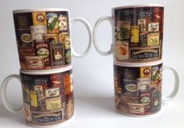 Sakura Oneida Homestead Pantry Coffee Cup Mug Set Of 4 David Carter Brow... - $25.73